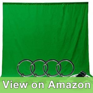 LimoStudio Photo Video Studio 6 x 9 feet Green Muslin Backdrop Muslin with Backdrop Ring Holder Clip review