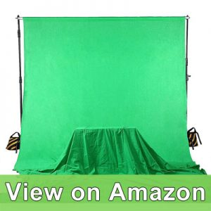 Square Perfect 4037 Professional Quality 10 x 13 Feet Chromakey Green Screen Muslin Backdrop for Photography and Video review